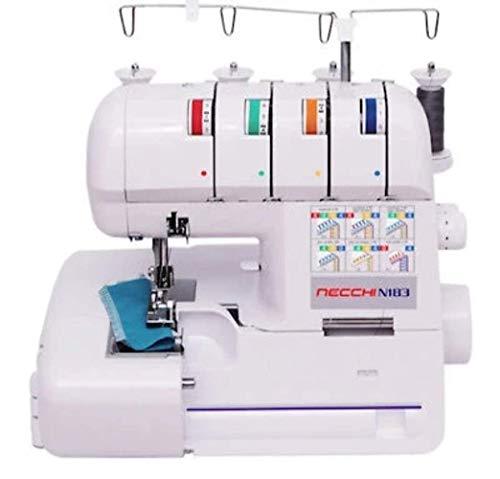 Necchi N183 - Máquina de coser, interior de fundición a presión, de aluminio, carcasa de ABS, blanco, normal