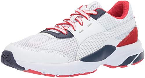 PUMA Men's Future Runner Premium Sneaker, White-Peacoat-h, 9.5 M US