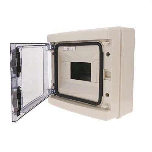 BeMatik - Caja de distribución eléctrica SPN 8M IP65 de Superficie de plástico ABS HA