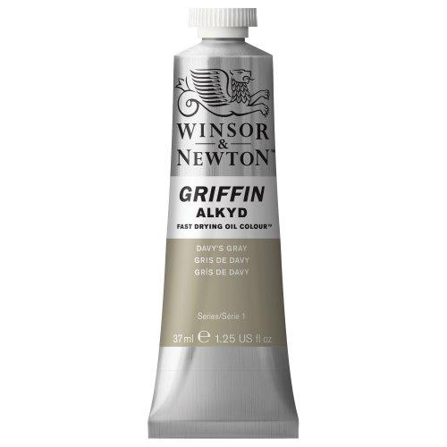 Winsor & Newton Griffin Alkyd - Tubo óleo de secado rápido, 37 ml, Gris de Davy