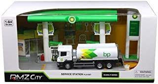 BP Service Gas Station with Tanker Play Set 1/64 by RMZ City 24444-BP