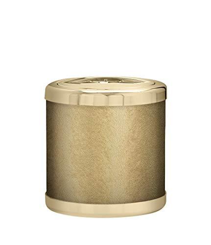 PLATEX 740051830 Petit Seau A Glace-Bague Doree-SOLFETO Gold, Plastique-Tissu, H13cm-Ø13cm