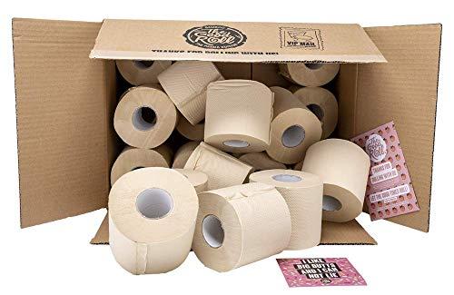 Bambus Toilettenpapier - 24 Rollen á 400 Blatt - The Wrapless Panda Edition - 2-Schichten MAXI - doppelt dicke Rollen - 100% baumfreundliches & nachhaltiges Papier