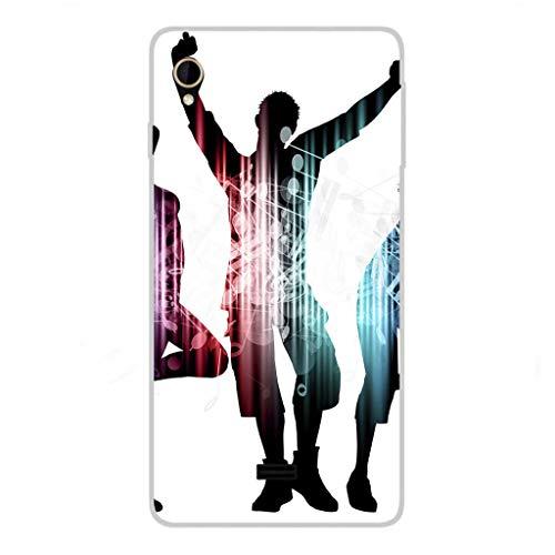 Todo Phone Store Hülle Schutzhülle Design LED UV Druck Silikon Zeichnung TPU Gel [AUSGEFLIPPT 021] für HISENSE U972 / U972 PRO