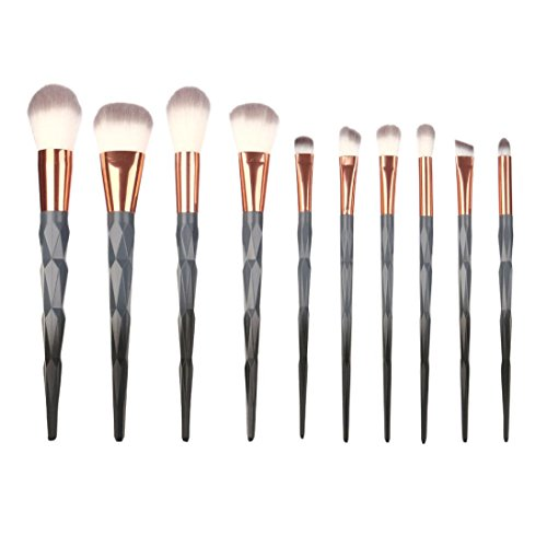 Btruely Makeup Pinsel Set 10PCS Professionelles Kosmeti Bürsten Pinselset
