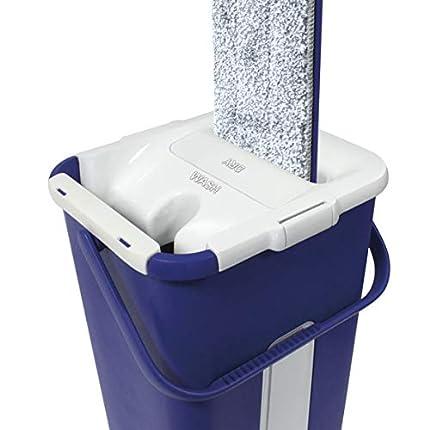 STARLYF AutoClean Mop – el Sistema de Limpieza de Coche autosecador, una Escoba de Microfibra y un Cubo de Dos Compartimentos.