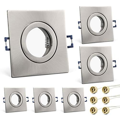KYOTECH marco foco empotrable IP44 baño Pack de 6 Incl. Zócalo Gu10...