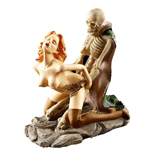Nackte Frau Funny Dracula Lover Sexy Statues Polyharin Home Möbel Resin Skull Ornaments Erwachsene Zeremonie Modell Home Bar Tisch Car Decor,S1