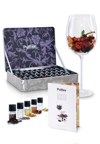 Pulltex Aromi - Set Completo 40 Aromi del VINO - Confezione in METAL GIFT BOX - Allena Olfatto Sommelier