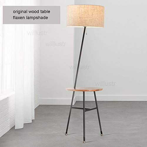 5151BuyWorld Lynn wandlamp voor terra modern massief hout huis rond eiken Nordic bank stof ombre zijde, nachtkastje foyer bedlampje zitlamp van hout
