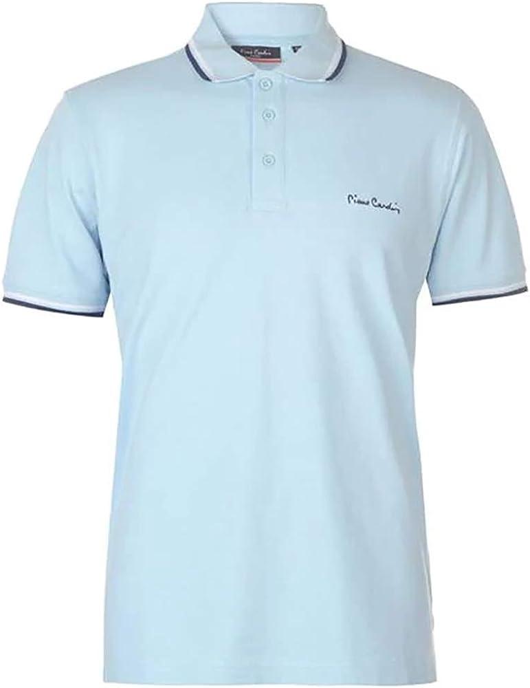 Pierre cardin, polo da uomo, maglietta maniche corte, 100% cotone FA028001A