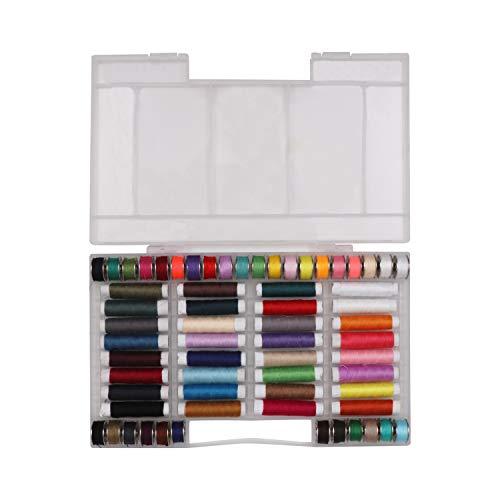 Hilo de Coser de Poliéster (64 Paquete) - Hilos de coser de Colores Surtidos - 32 Bobinas...