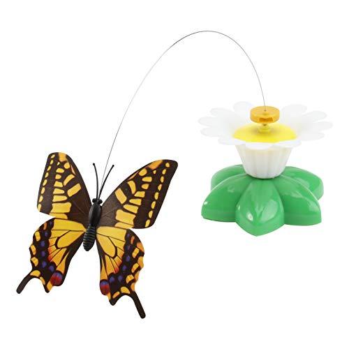 Ueetek gatto interattivo Teaser giocattolo elettrico rotante farfalla colore casuale