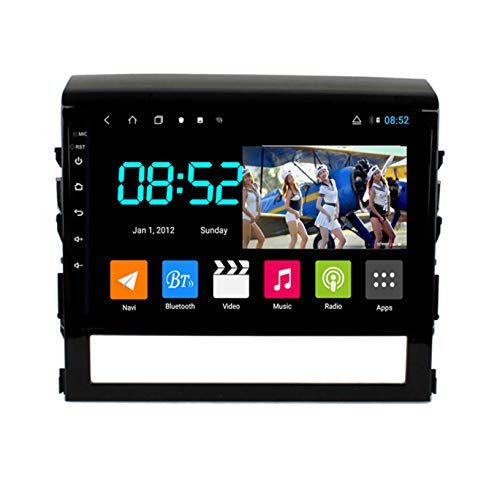PLOKM Autoradio Bluetooth Manos Libres 2 DIN Android Multimedia GPS Radio De Coche Pantalla Táctil De 10'' para Toyota Land Cruiser 2016-2018 con Carplay 4G RAM + 64G ROM