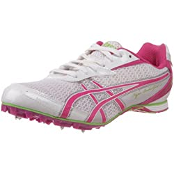 powerful ASICS Women's Hyper Rocket Girl 5 Athletic Shoes White / Fuchsia / Apple Green 8M