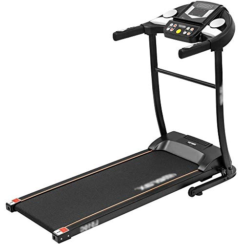 N&I Spin Bike Treadmill Electric Treadmill Motorized Running Machine Easy Assembly Electric Treadmills for Home Digital Control 2.0CHP Motor to 12km/h