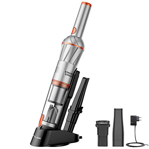 FYLINA Handheld Vacuum,Ultra Lightweight Hand Vacuum Cordless,Mini Hand Vacuum Cleaner with Charging Dock for Home and Car Cleaning 7Kpa Suction Rechargeable Portable Handheld Vac with Lithium Battery