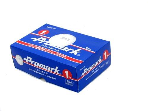 サクライ貿易(SAKURAI) Promark(プロマーク) 野球 ソフトボール 練習球 1号球 6個入り SB-8016
