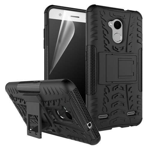 betterfon | Funda híbrida para teléfono móvil de exterior de silicona TPU para ZTE Blade V7 Lite, color negro