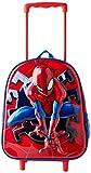 Cerdá, Mochila con Ruedas Infantil 3D de Spiderman-Licencia Oficial Marvel Studios Unisex niños, Multicolor, 260X310X100MM