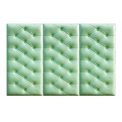 zanasta 3X Cojines de Pared, amortiguación, protección contra Golpes, Autoadhesivo Reductor de Ruido Vert