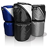 Outdoor Designs USA Waterproof Blanket – Large Warm XL Dry Windproof Rainproof Plush Cold Weather Packable Fleece Throw Cover for Stadium Camping Outside Picnic Yoga Beach Festival Dog Travel (Black)