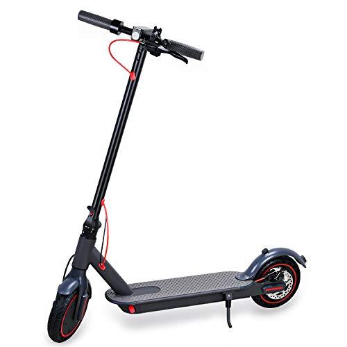 SJY Patinete eléctrico de 350 W, patinete eléctrico con aplicación de aluminio plegable