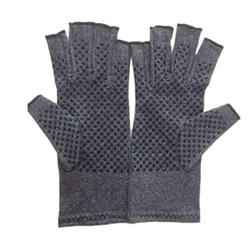 Healifty Arthritis-Handschuhe Unisex-Arthritis-Handschuhe Weiche, rutschfeste, offene Fingerhandschuhe für Sehnenentzündung Karpaltunnel Größe M (Grau)