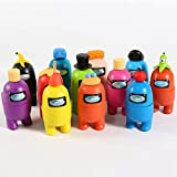 12PCS Among Us Merch Figurines Set, Collection Toys for Game Fans, Mini Character Action Figure Decorations, Astronaut Crewmate Desk Toy Gift for Children