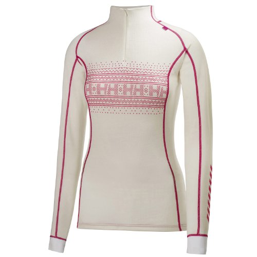 Helly Hansen Dry Stripe Sous vêtement technique Femme - Blanc (Print White) - FR : M (Taille Fabricant : M)