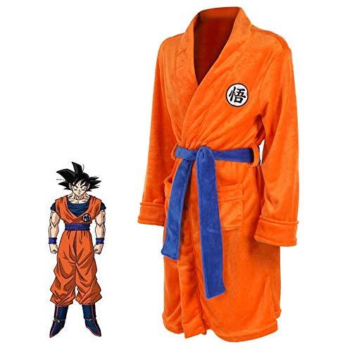 Dragon Ball Z Naruto Angriff auf Titan Bademantel Cosplay Son Goku Kostüm Erwachsene Nacht Bademantel Nachtwäsche Schlafanzug Badeanzug