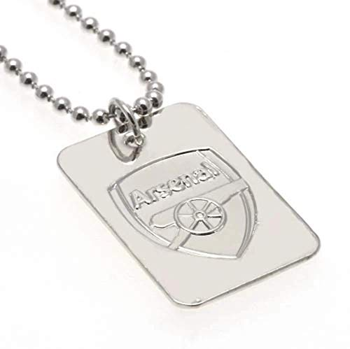 Arsenal F.C. Silver Plated Dog Tag & Chain