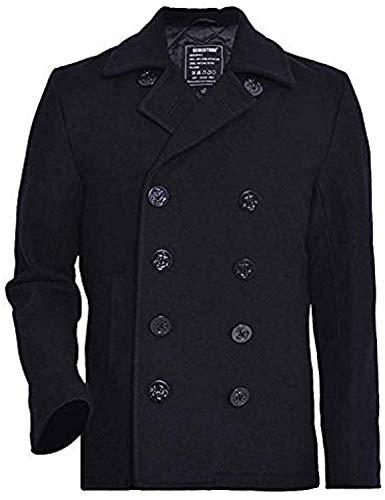cappotto uomo fashion Seibertron Cappotto Uomo US Navy 80% Lana Nero L