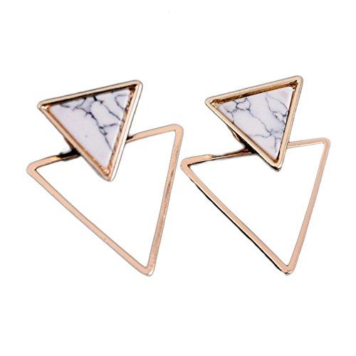 Hosaire Ohrringe Mode Einfacher Stil Marmor Linien Dreieck Ohrringen Damen Zubehör Schmuck Freunde Liebhaber Valentinstag Geburtstag Geschenk Ohrhänger