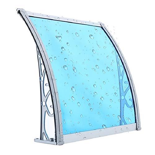 JIANFEI VordachHaustürÜberdachung, Polycarbonat Ausdauerbrett Pultbogenvordach Klimaanlage Außerhalb Maschine Balkon Markise, 7 Größen Unterstützung Der Anpassung (Color : Blue, Size : 60X100CM)