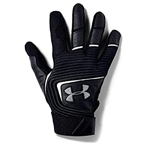 Under Armour Boys' Youth Clean Up 19 Baseball Gloves , Black (002)/Graphite , Youth Small