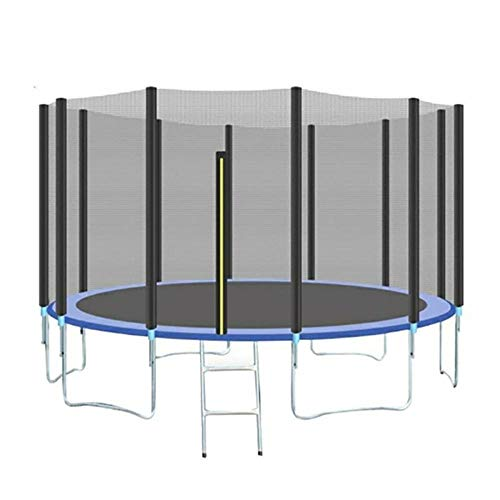 WBXZAL Garden Trampoline Garden Children Trampoline, Outdoor Trampoline, Complete Set Including Ladder, Safety Net and Cover, Trampoline Ø366CM, Blue