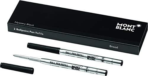 MONTBLANC Kugelschreibermine, Großraum, B, Schreibfarbe: mystery black (2 Stück), Sie erhalten 1 Packung á 2 Stück