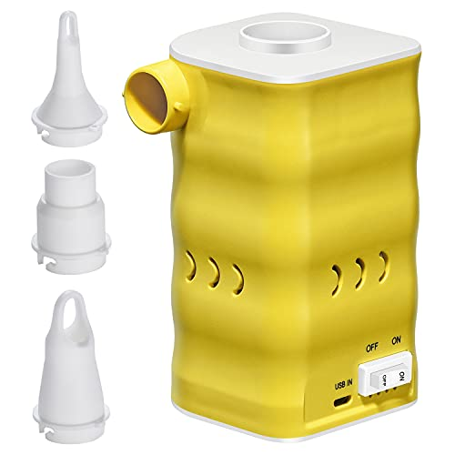 Bomba de Aire eléctrica Woodwind Bomba de colchón de Aire Recargable portátil para inflables con 3 boquillas