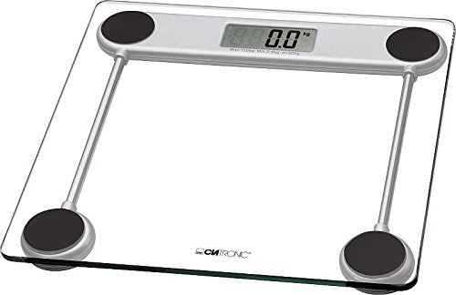 Glaswaage mit LCD-Display Personenwaage Gewicht Waage (Messbereich 2,5 bis 150 kg + inkl. Batterien)