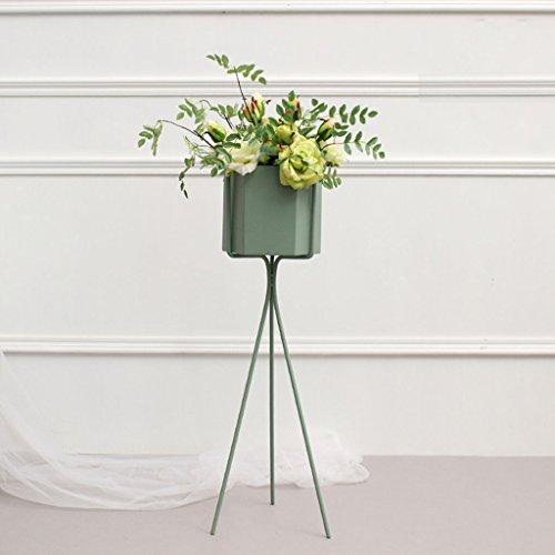 William 337 Flower Pot Rack, Triangle métal Fleur Racks Salon Atterrissage intérieur Pot de fleurs Décoration (Couleur : Vert, taille : 12 * 14 * 64CM)
