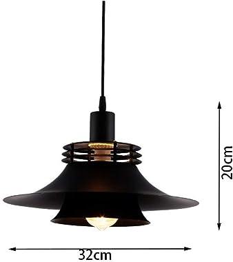 Chandelier Iron Art Black Retro Nostalgic Industrial Pendant Lamp Creative Personality Round Iron Lampshade Single Head Hangi