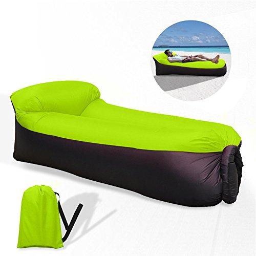 WAITIEE Wasserdichtes aufblasbares Sofa mit integriertem Kissen, Aufblasbare Liege, tragbar Air Betten Schlafen Sofa Couch, für Reisen, Camping