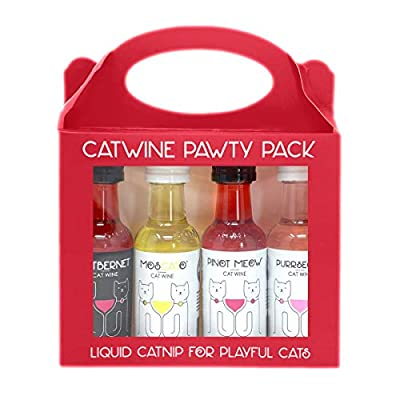 Cat Wine Pawty Pack Catnip Wine CatWine Set for Cats & Kittens
