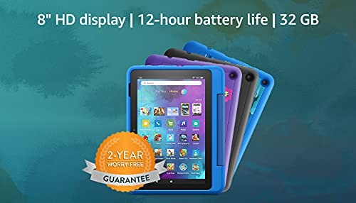 New: Fire HD 8 Kids Pro tablet | for ages 6-12 | 8 HD, 32 GB | Intergalactic Kid-Friendly Case