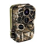 LXLTL Cámara de Caza 24MP Cámara de Vigilancia de la Vida Silvestre Detector de Movimiento PIR Cámara de Rastreo con Visión Nocturna,Gran Angular 120°, Velocidad Disparo 0.4s, Impermeable IP65