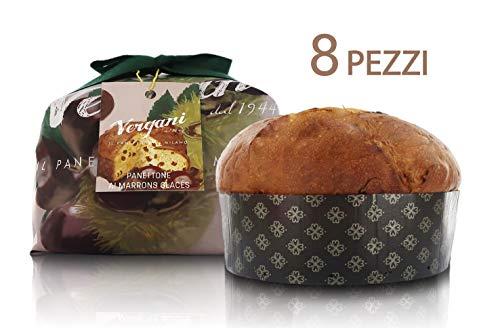 Vergani Panettone Gourmet con castañas confitadas o Marron glacé - 750 gr (8 Unidades)