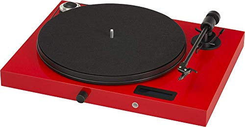 Pro-Ject Audio Systems All-in-One Turntable, Red/High Gloss (Jukebox E (OM5e) - Red)