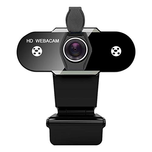 MERIGLARE Webcam with Mic for Desktop, HD USB Webcam Live Streaming Laptop PC Computer Web Camera for Video Calling Conferencing Recording Gaming, AutoFocus - 480P with Cover