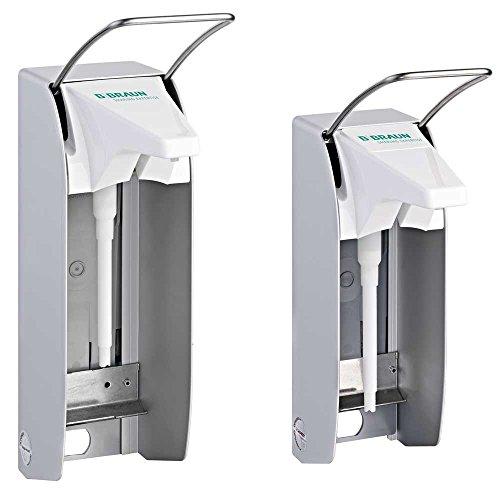 B.Braun Plus TLS - Dispensador de pared (1000 ml, manga larga, palanca visible, 17 cm, sin contacto, universal